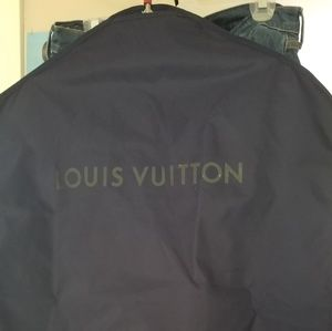 Authentic LOUIS VUITTON Navy Blue ZIP Garment Bag